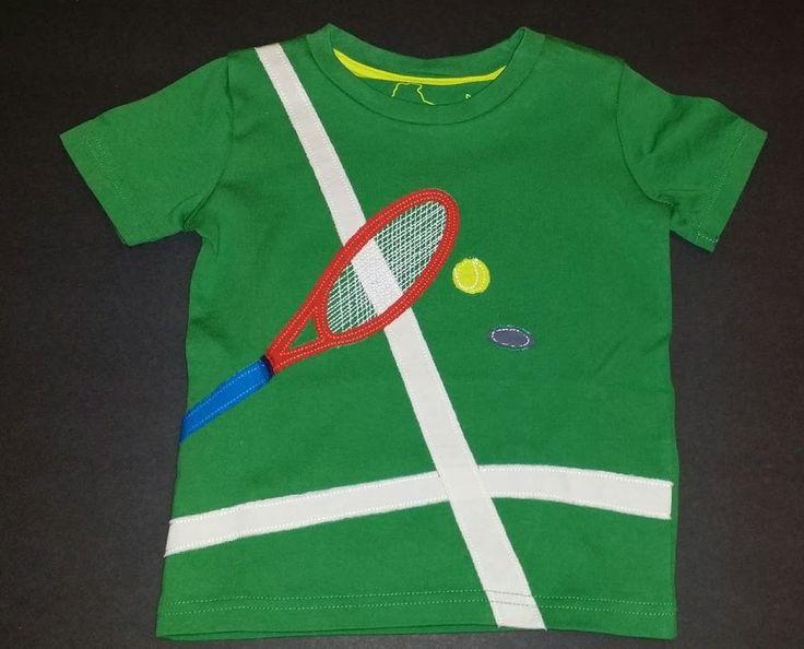 Mini Boden boy tennis shirt Size 2-3 years green sports #MiniBoden #Everyday