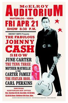 Johnny Cash concert poster 1967
