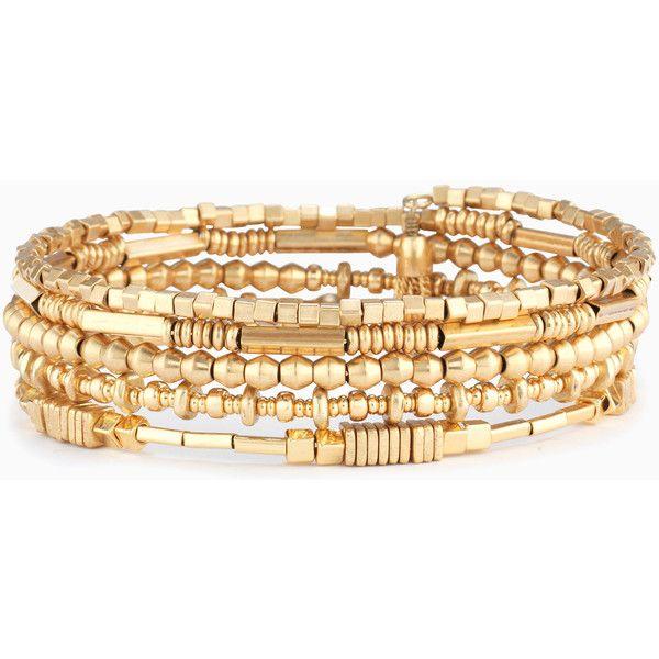 Stella & Dot Celine Wrap Bracelet ($49) ❤ liked on Polyvore featuring jewelry, bracelets and wrap bracelet