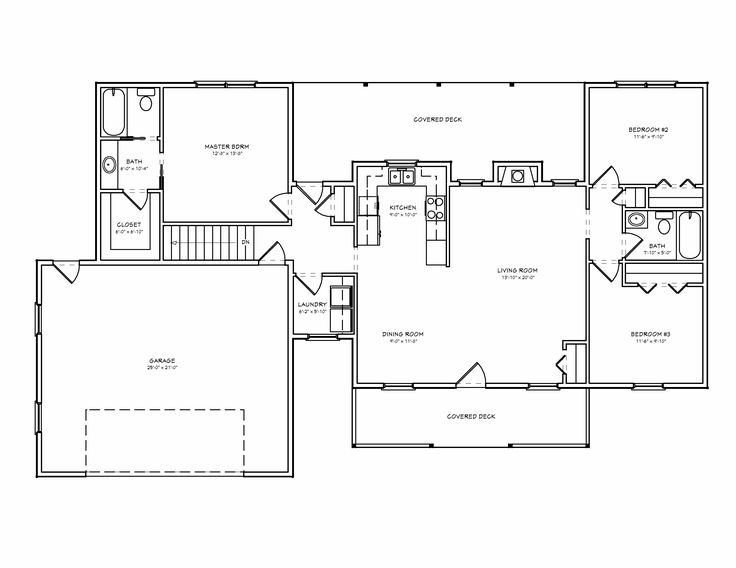 Superior Small House Floor Plans | House Plans And Home Designs FREE » Blog Archive  » SMALL RANCH HOME ... | For The Home | Pinterest | Small House Floor Plans,  ...