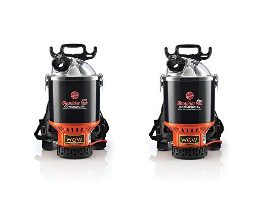 Hoover Commercial Lightweight Backpack Vacuum, C2401 (Pack of 2)