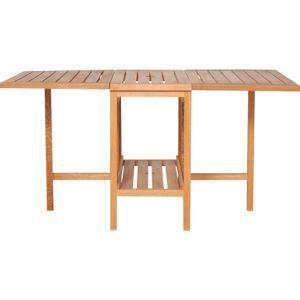 Habitat Zeno Oak Garden Table and Set of 4 Chairs