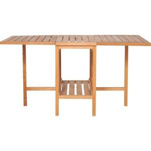 Habitat Zeno Oak Garden Table and Set of 4 Chairs