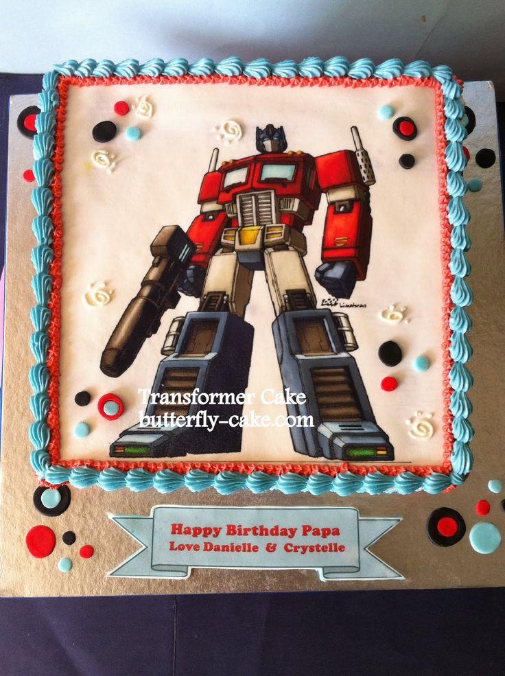 Optimus Prime Cake Ideas Butterfly Cake Transfomer Cake