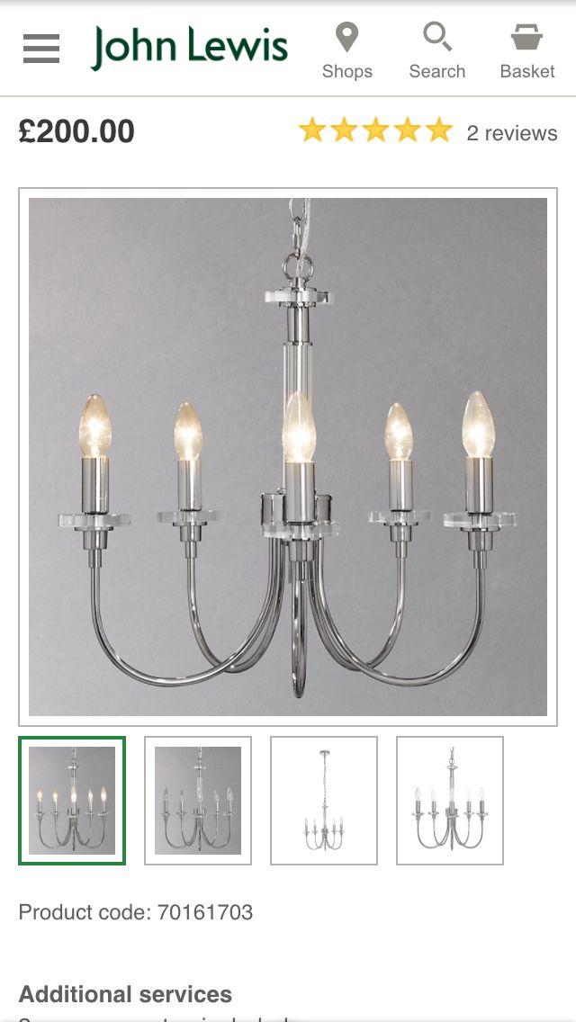 John Lewis light - please go in the sale!
