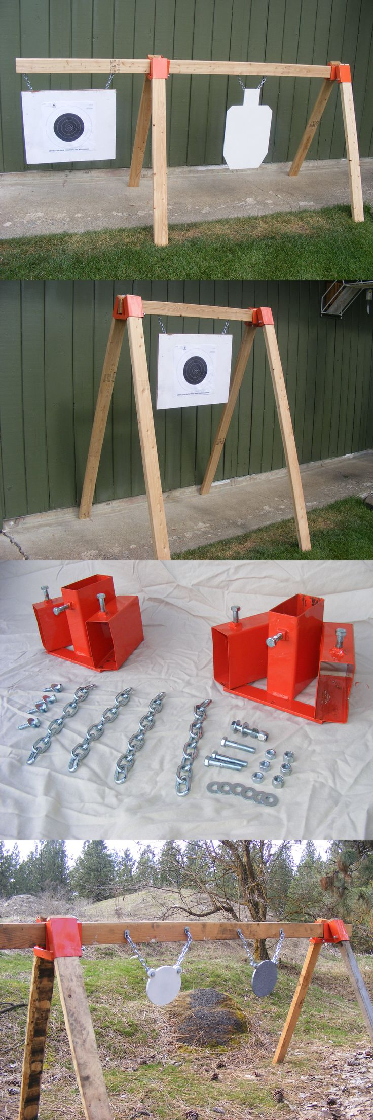 Targets 73978: Tommygun Pistol Rifle Shooting Target Ar500 Gong Stand Kit Hang Your Steel Diy BUY IT NOW ONLY: $59.0