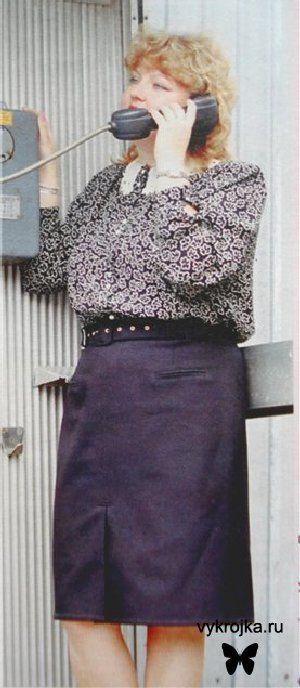 Выкройка блузки для дам с королевским размером