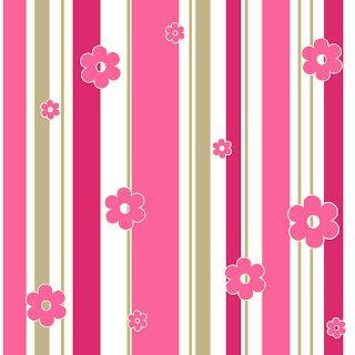 Listras Rosa e Bege - Kit Completo com molduras para convites, rótulos para guloseimas, lembrancinhas e imagens! - Fazendo a Nossa Festa