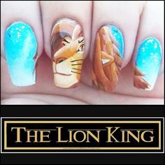 """Nail Art Inspired by Disney's """"The Lion King"""""""