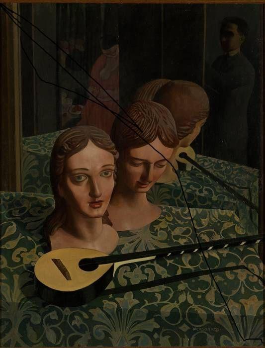 art-mirrors-art:  Felice Casorati - Mannequins (1922)
