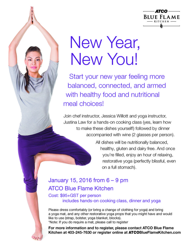 So excited to announce our joint cooking and yoga class in downtown Calgary, January 15th, 2016! Start your new year feeling more balanced, connected, and armed with healthy food and nutritional choices! Makes a perfect Christmas gift!! http://www.ombianceyoga.com/3306_BFK_YogaClass_vF.pdf
