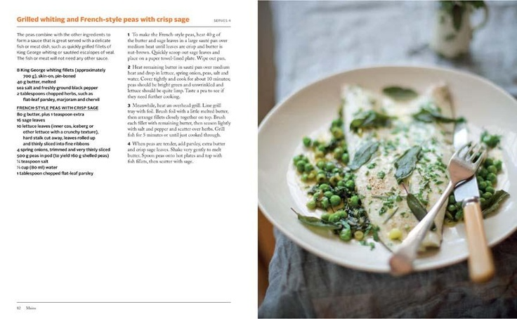 Grilled Whiting and French-style Peas with Crisp Sage  found in  Stephanie Alexander: Lantern Cookery Classics