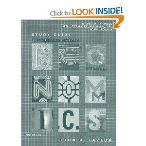 Principles of Macroeconomics-Study Guide by John B. Taylor. $51.79. Publisher: South-Western College Pub; 5 edition (March 6, 2006). Publication: March 6, 2006. Author: John B. Taylor. Edition - 5