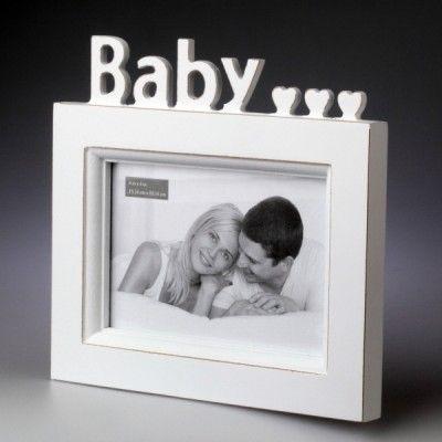 """Ramka z napisem """"baby"""" na zdjęcie 10x15 cm"""