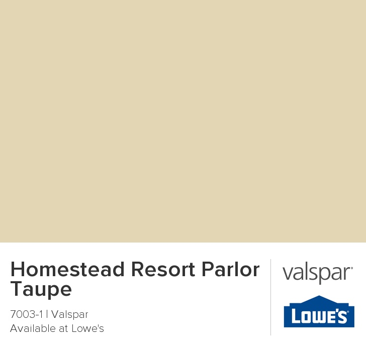 Best. Paint color!  It is a soothing sand.  Beige feels too dirty and gray is too industrial.   I actually love waking up with this beachy sand in the bedroom.  And it is perfect in the living room with our red sofas. Homestead Resort Parlor Taupe from Valspar