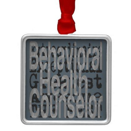 Behavioral Health Counselor Extraordinaire Metal Ornament - home gifts ideas decor special unique custom individual customized individualized