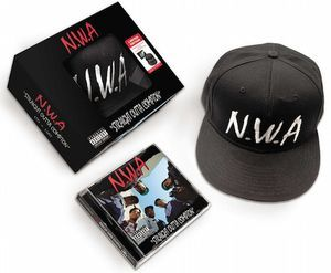 Shipping Worldwide: N.W.A. - Straight Outta Compton 2015 Box Set // Bundle is housed in a custom NWA-skinned box with a window in front displaying the hat crown with the infamous NWA logo. // Brand new only $21.95 @ http://www.discogs.com/sell/item/275751819