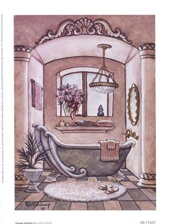 vintage bathtub ll bath artbathroom