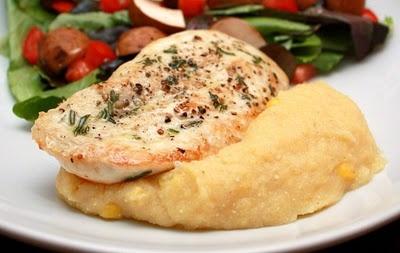 Rosemary Chicken with Two-Corn Polenta | Chicken | Pinterest