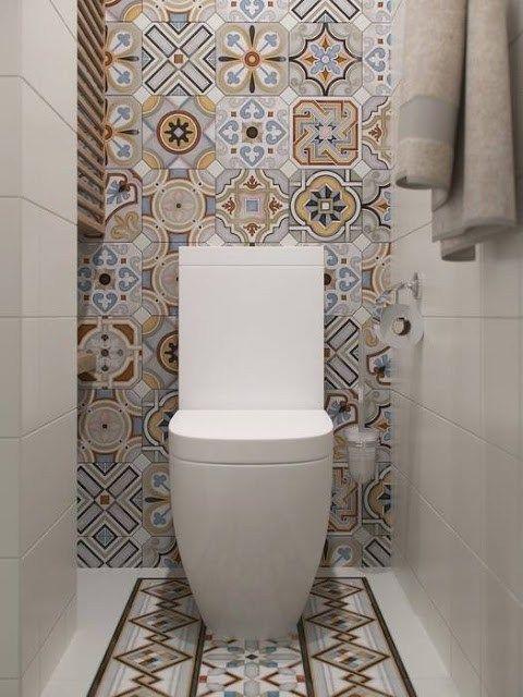 66 best WC images on Pinterest Bathroom, Bathrooms and Guest toilet - percer carrelage salle de bain
