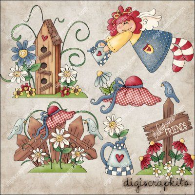 Love My Garden 1 Clip Art Set