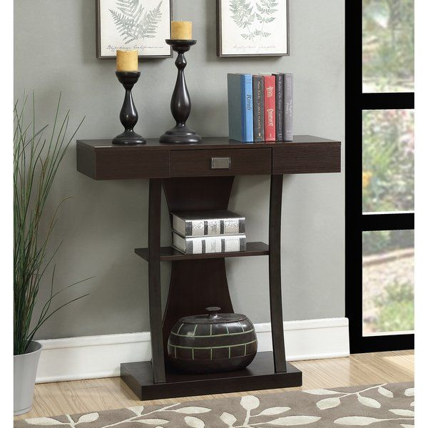 Copper Grove Kherson Brown Metal Console Table Console Table Convenience Concepts Metal Console Table