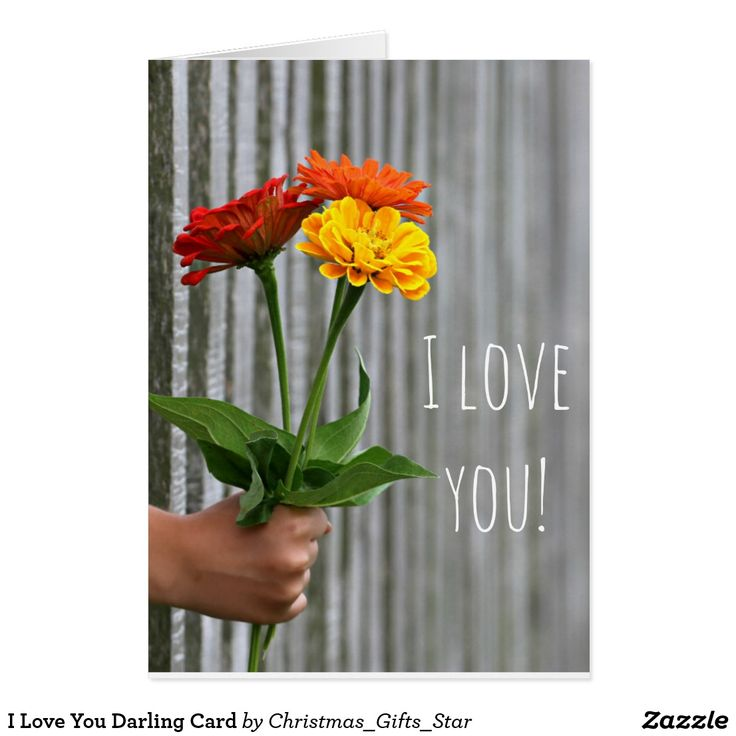 I Love You Darling Card