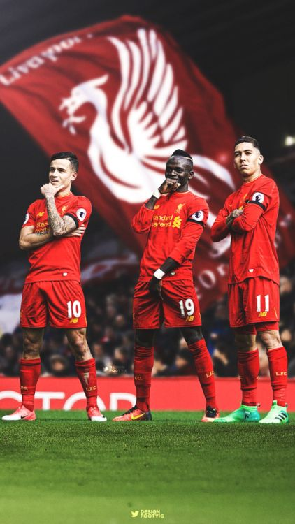 Philippe Coutinho, Sadio Mane, Roberto Firmino. Liverpool FC 2017. DESIGNDANIEL