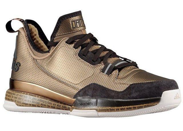 adidas Damian D Lillard Gold Black History Month (BHM) 1.0 Limited Size 7.5  Mens