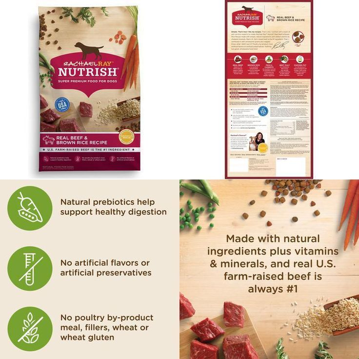 Natural Dry Dog Food Real Beef &Amp; Brown Rice 40 Lb Healthy Digestion Vitamins #RachaelRayNutrish,#dog,#food,#cat,#energy,#strong,#health,#dry,#pet,#protein,#natural