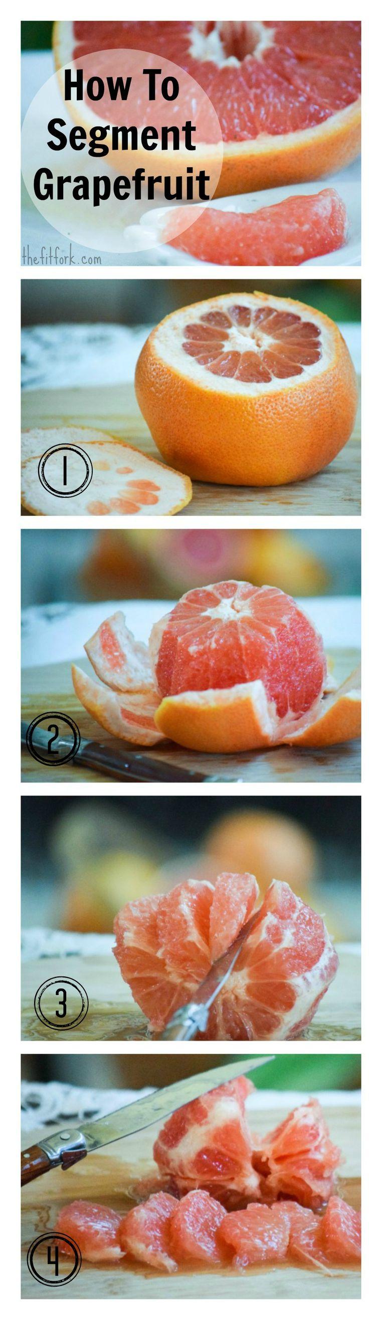 How To Segment Grapefruit - numbered-  TheFitFork.com