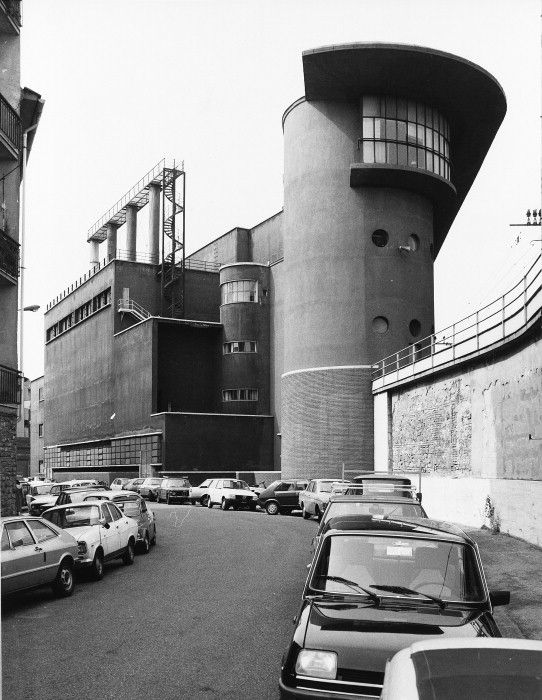 Machinery shed and power station, Santa Maria Novella Station, Florence (Angiolo Mazzoni del Grande, 1931-1932)