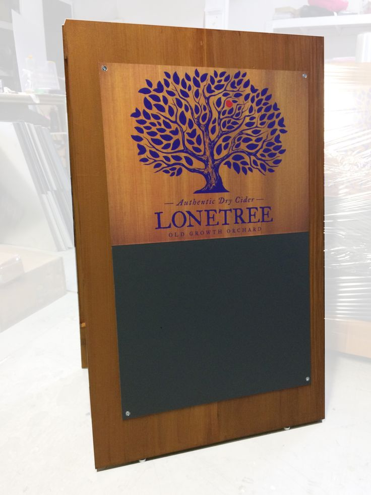 Made 50 of these #sandwichboards for this cider co. to get distributed around the city.