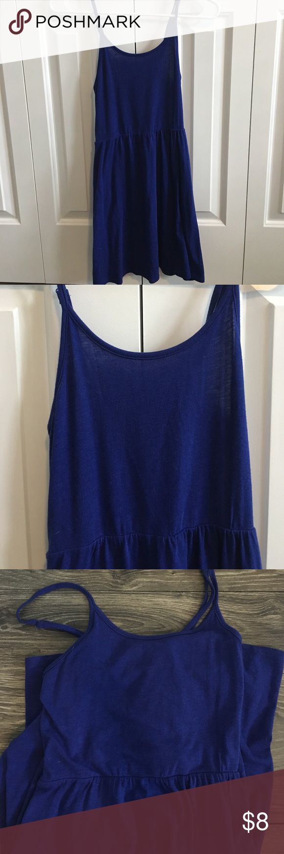 Forever 21 Midnight Blue Cami Dress Forever 21 cami dress with adjustable straps in a woman's size small. Super stretchy and very comfortable! Easy to dress down or even dress up! Forever 21 Dresses
