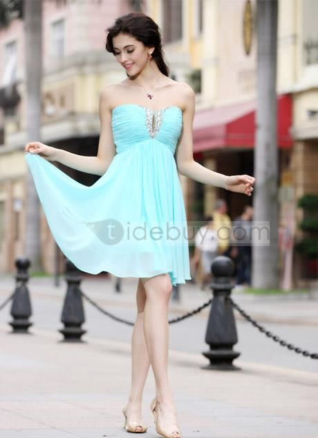 Pretty Strapless Sequins Ankle-Length Home Coming Dress