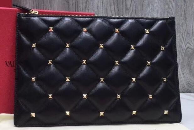 78ef443eb9 2018 discount Valentino Candystud Clutch Pouch Bag Black