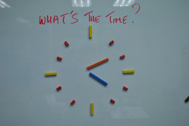 Create a clock with Cuisenaire Rods.