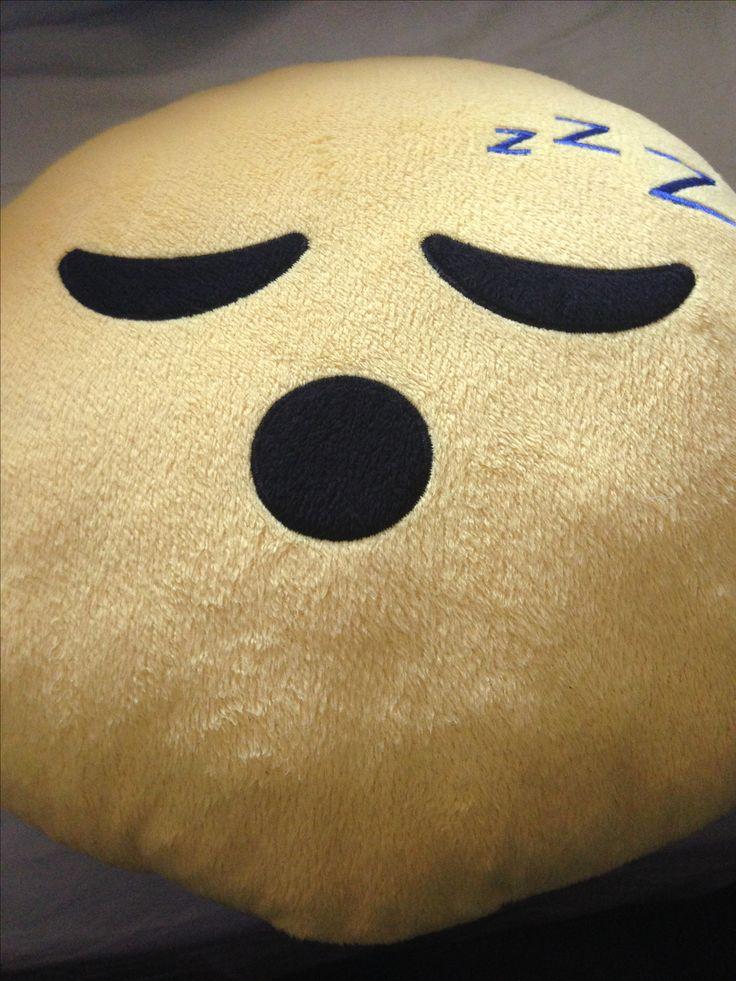 This is my sleeping emoji pillow