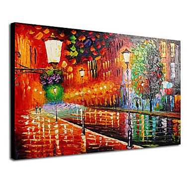 A Bright Night Oil Painting Free Shipping