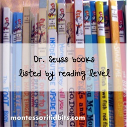 Dr. Seuss books by reading level. Rhyming, repeating phrase, sound words