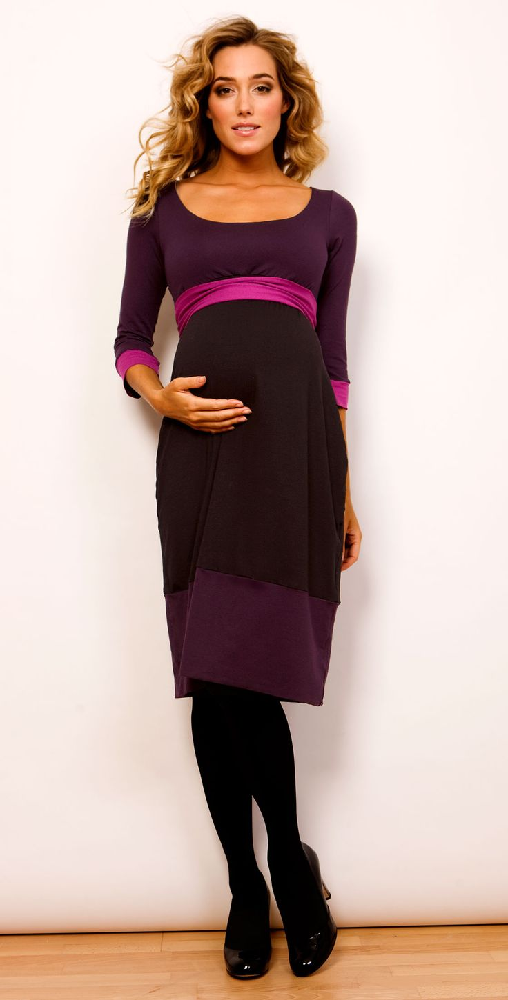 123 best fashion maternity images on pinterest maternity styles purple winter maternity dress ombrellifo Choice Image