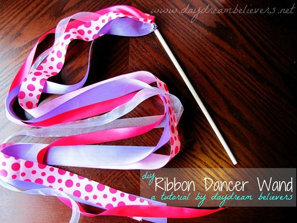 DIY Ribbon Wand - perfect for all small dancers