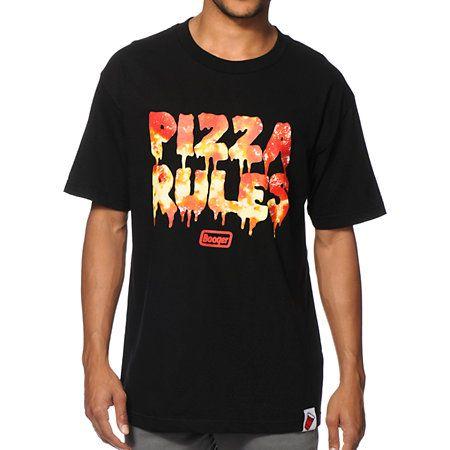 Booger Kids Pizza Rules Tee Shirt