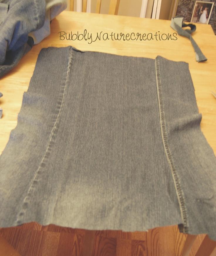 Denim Skirt From Pants-Denim Upcycle