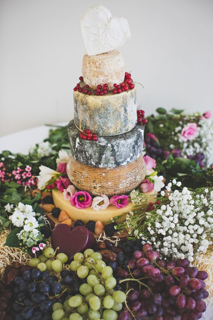 The wedding cheese tower that took the place of a traditional wedding cake