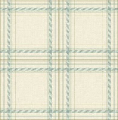 Tartan (97721) - Albany Wallpapers - Tartan is a contemporary plaid design with checks in various shades to create a tone on tone interpretation of an original tartan pattern. It can be used stand alone or as the perfect companion. Shown here in Duck egg blue - more colours are available. Please request a sample for true colour match.