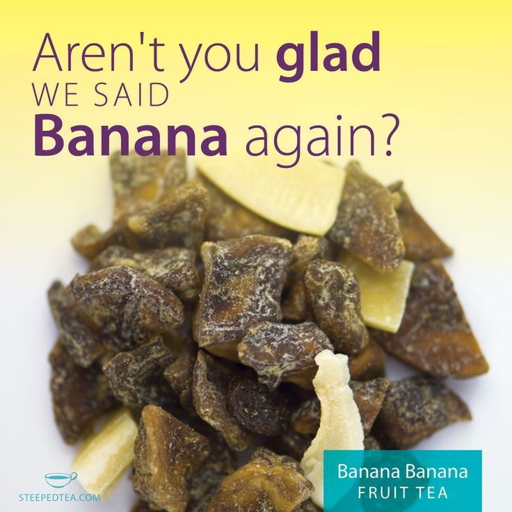 This delicious whole fruit tea is Bananas! It brews a brilliant yellow, and is perfect for ice pops, or added to smoothies for a flavor burst! www.mysteepedtea.com/deborah