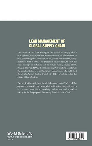 Lean Management of Global Supply Chain (Japanese Management and International Studies)