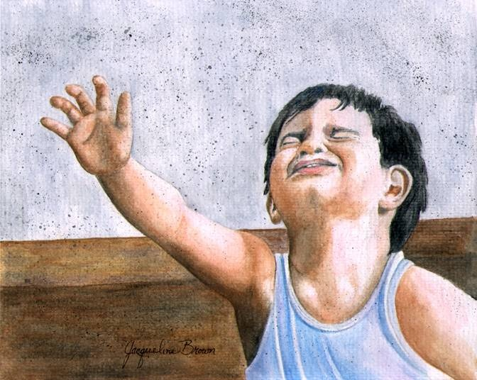 Hopeful Child by Jacqueline Brown -   Watercolor: Watercolor
