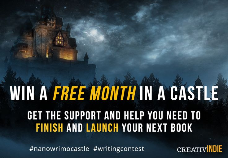 Write your next book in a castle! Writing retreat giveaway for #nanowrimo 2017